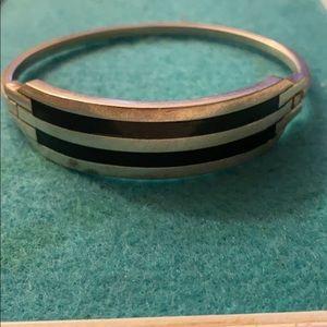 Sterling s black onyx's stone vintage bracelet